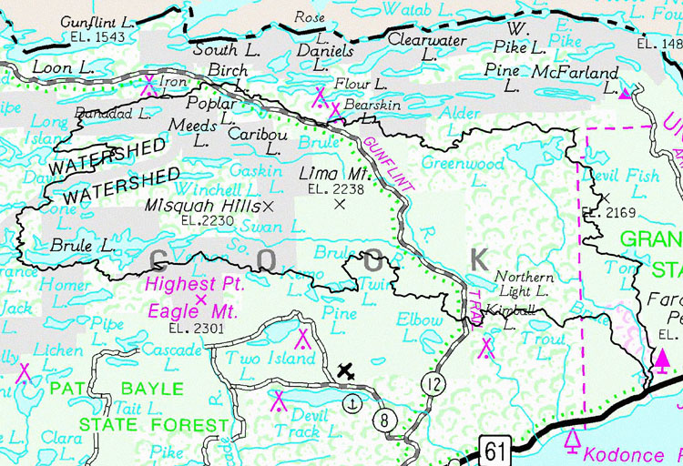 LakeSuperiorStreams Brule River Maps - Minnesota rivers map