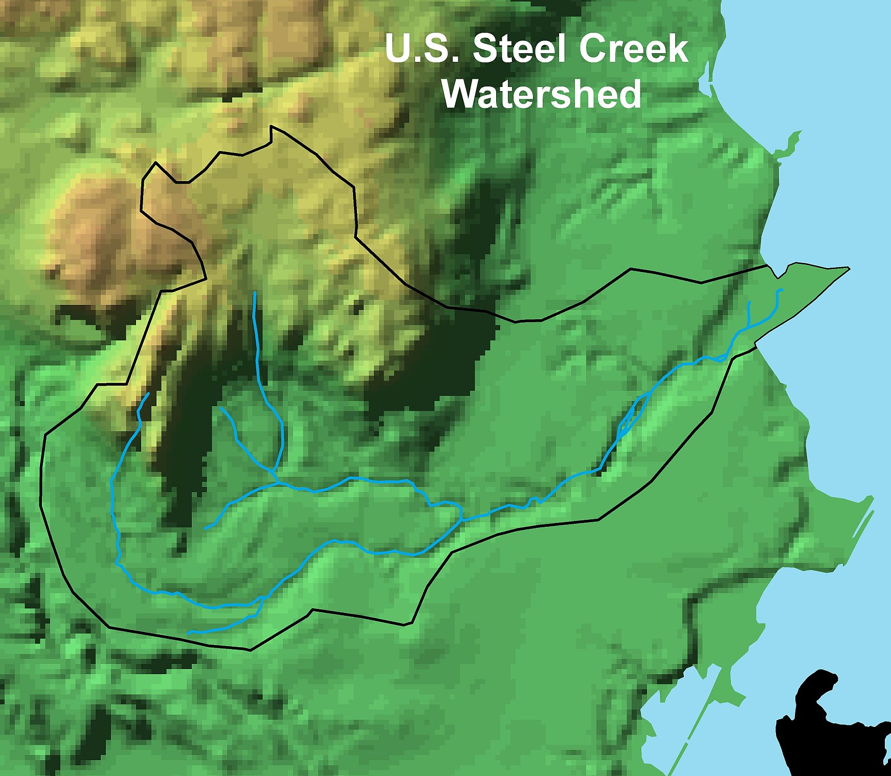 LakeSuperiorStreams US Steel Creek Maps - Colorful map of watersheds in us